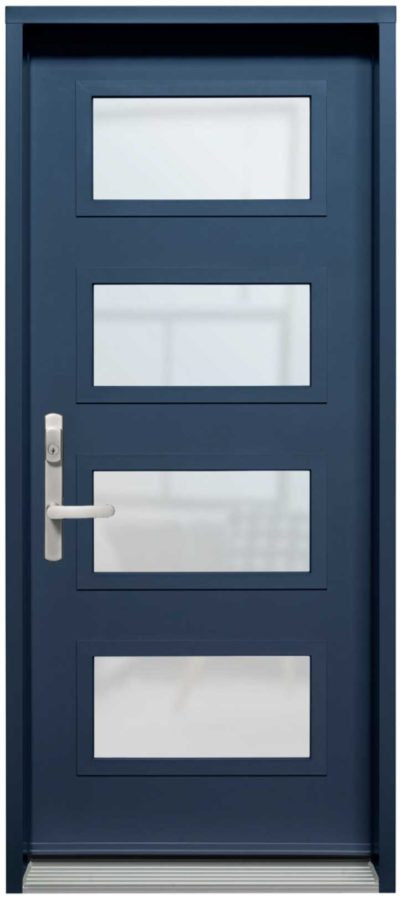 Porte Acier Creation Verre Select Satine Bleu